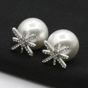 aretes de perla
