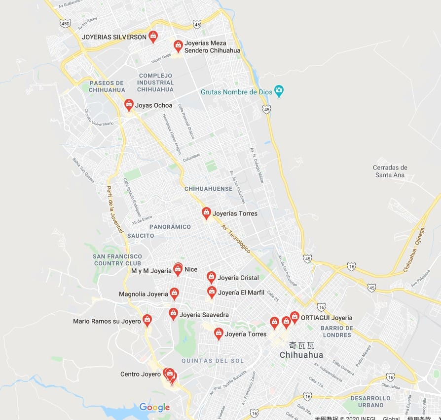 mapa chihuahu