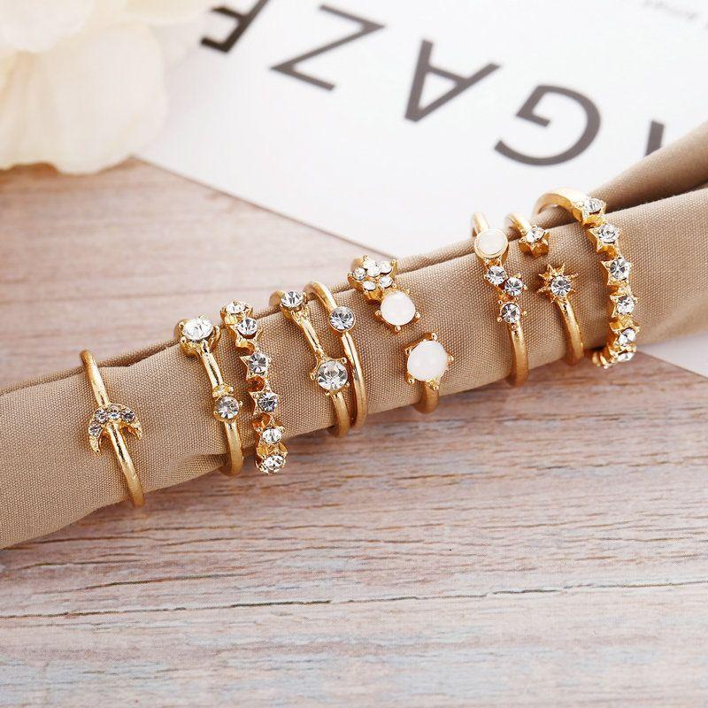 juegos de anillos simples y elegantes para revender
