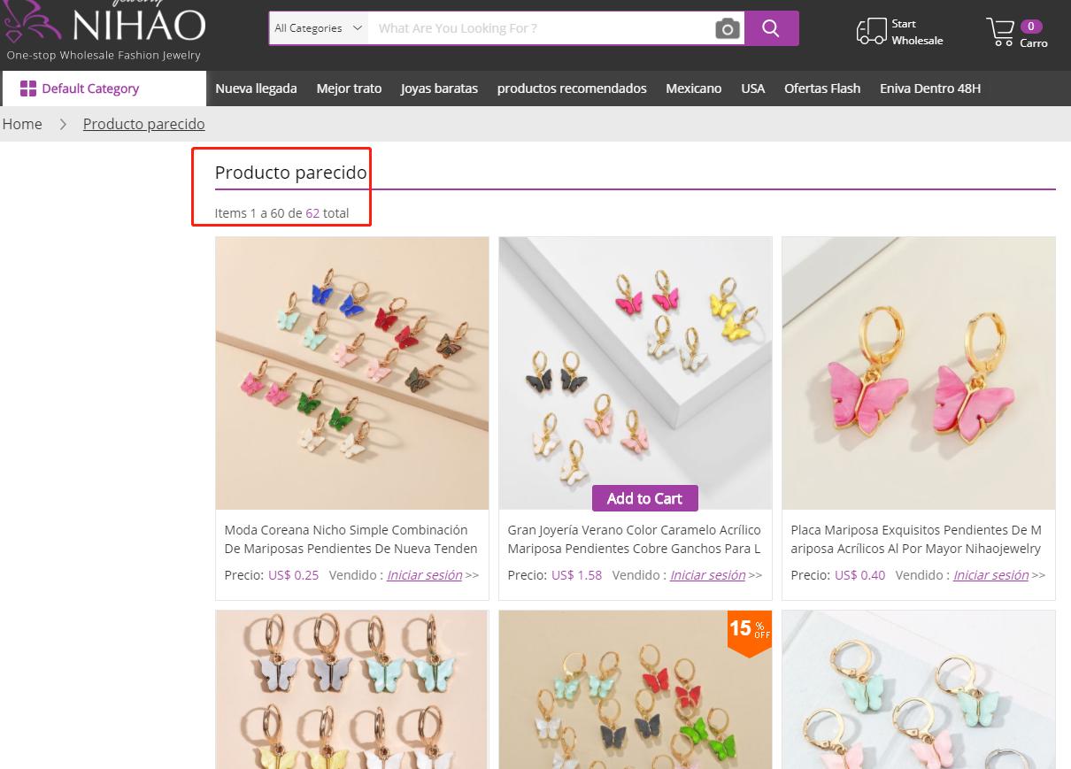 producto similar en Nihaojewelry