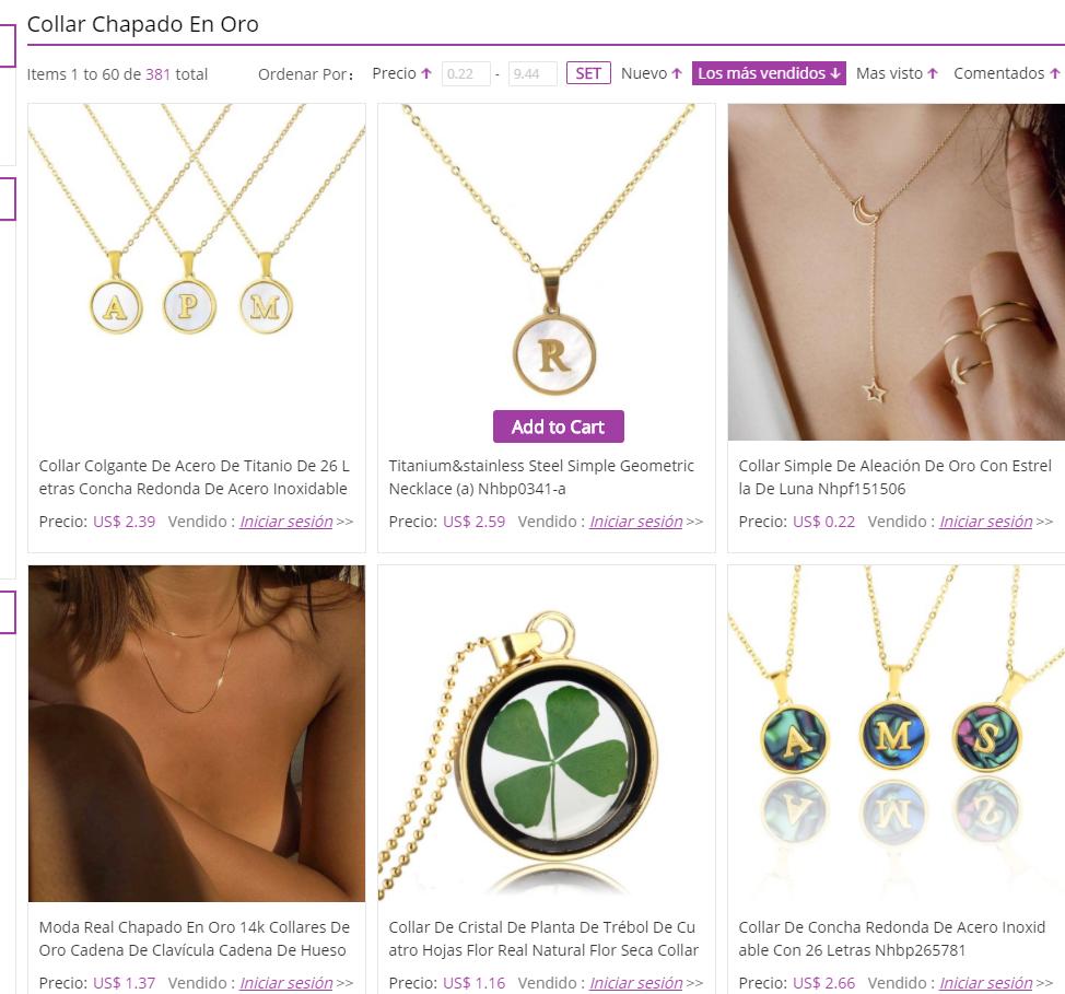Joyería en Nihaojewelry