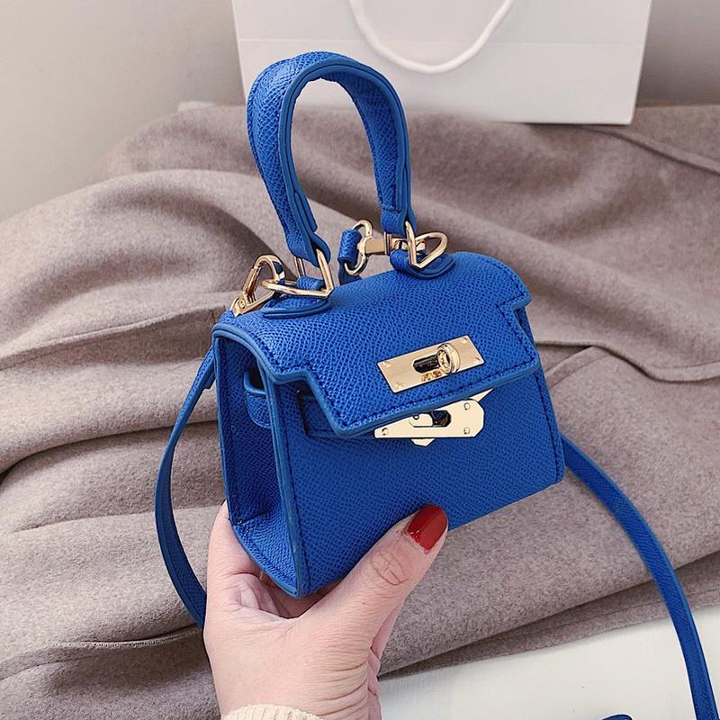 mini bolso azul