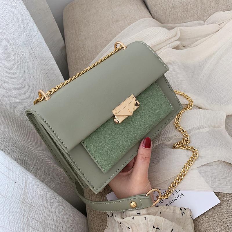 bolsos de cadena verde menta para mujer