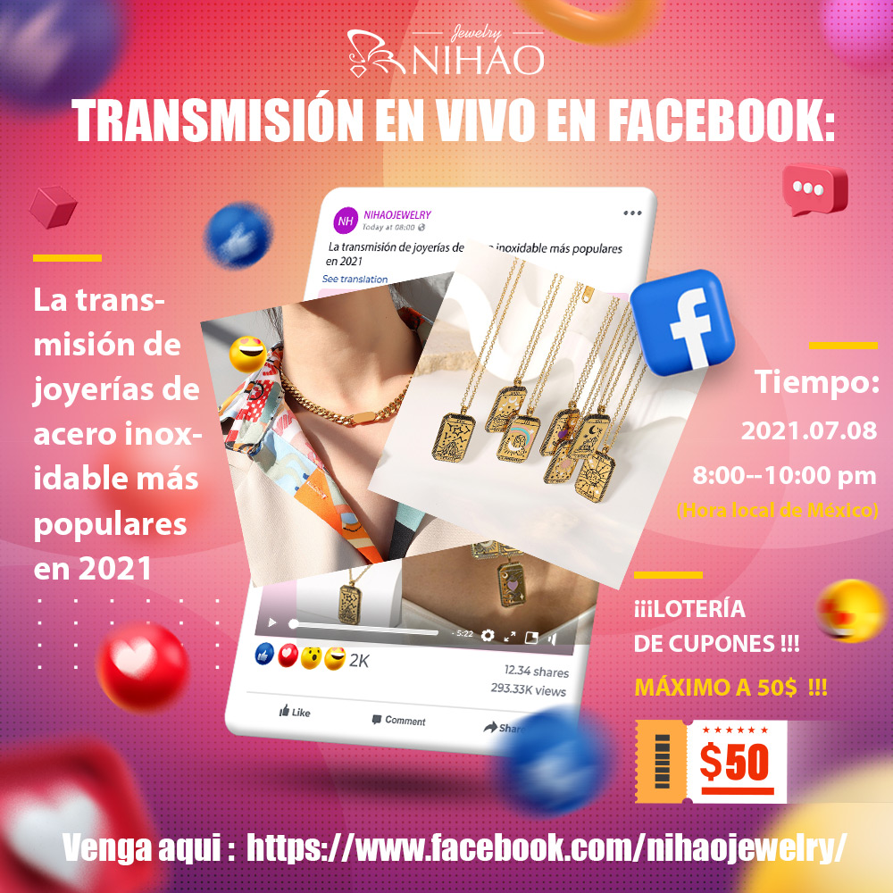 transmision en vivo en Nihaojewelry facebook