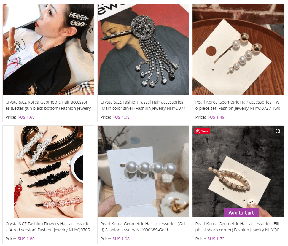Pearl pins in Nihaojewelry