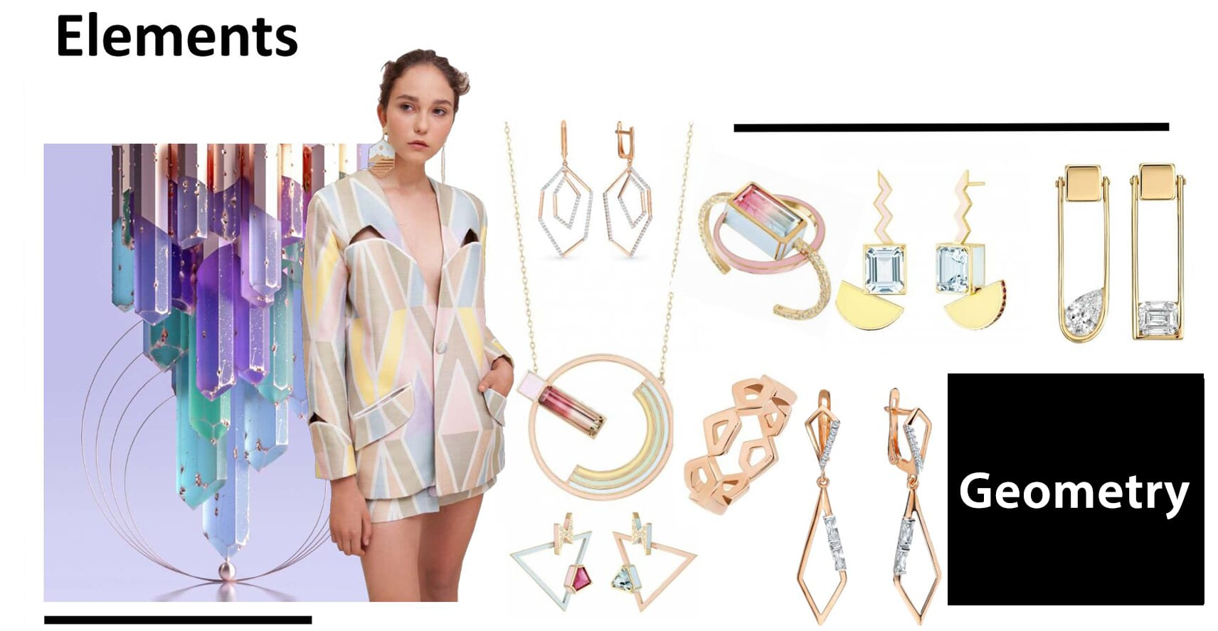 Irregular geometrical figure has design feeling very much , and it is a kind of fashion trend at present .