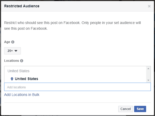 Restricted Audience