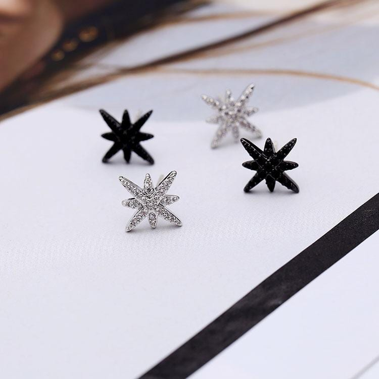 Womens Fashion Micro-Set Zircon Star Earrings