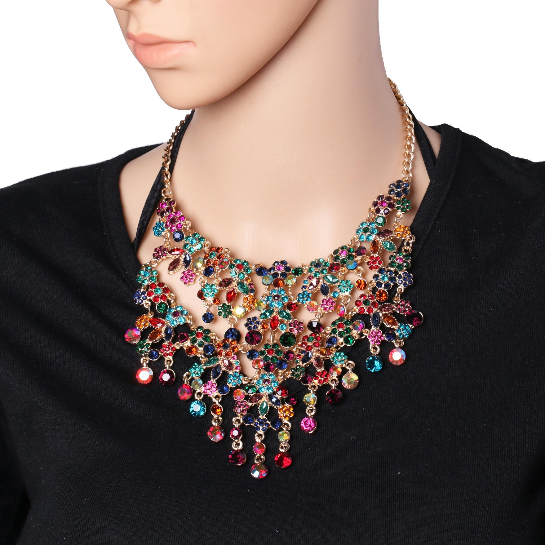 Womens other diamond-studded alloy Necklaces