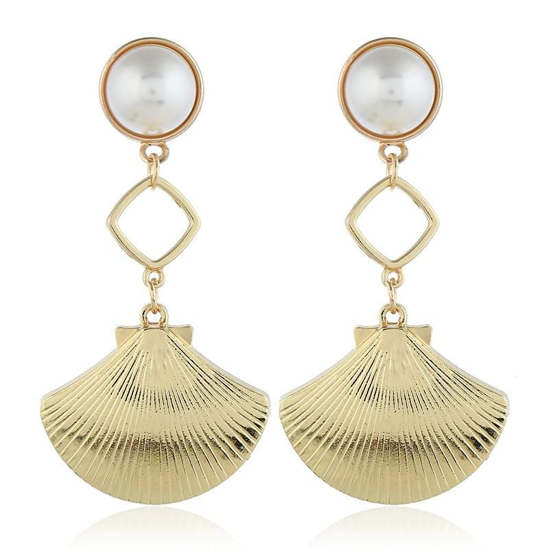 Fashion Simple New Wave Imitation Pearl Earrings