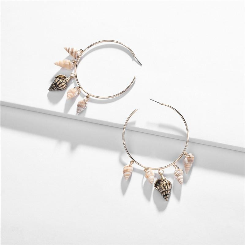 Fashion Natural Conch Alloy Copper Earrings