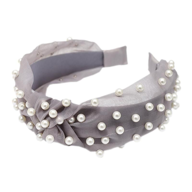 Wild mesh fashion pearl headband