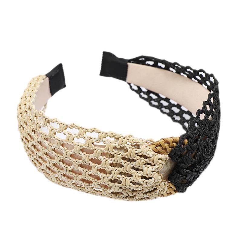 Korean Version of the Retro Simple Hand-Woven Straw Headband