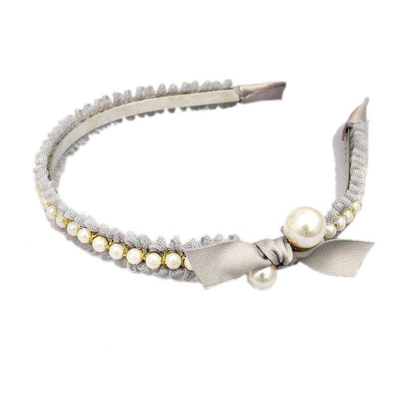 Fashion Pearl Lace Bow Headband