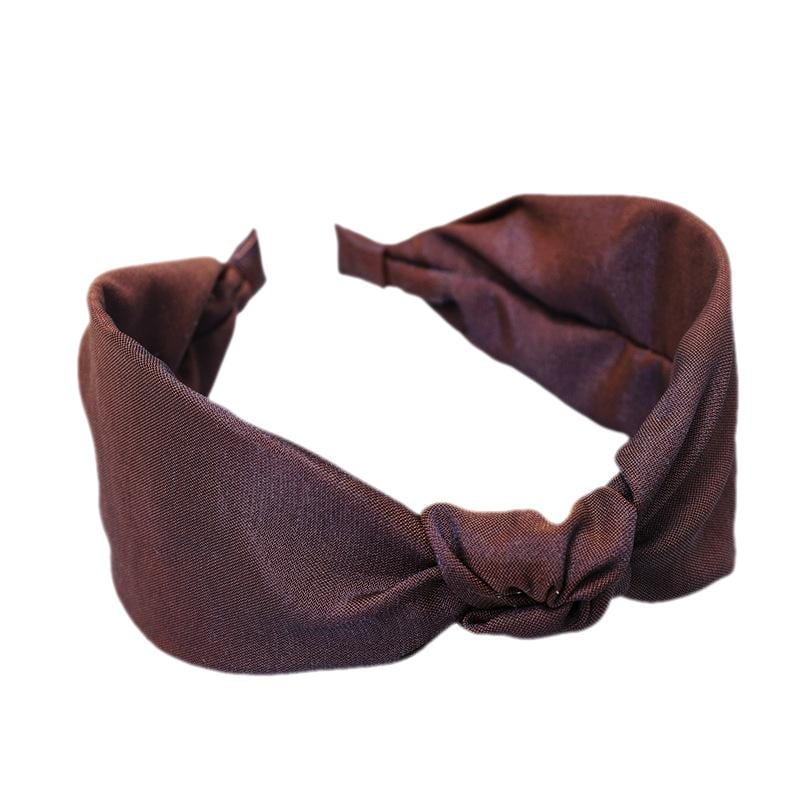 Wild solid color knotted fabric headband