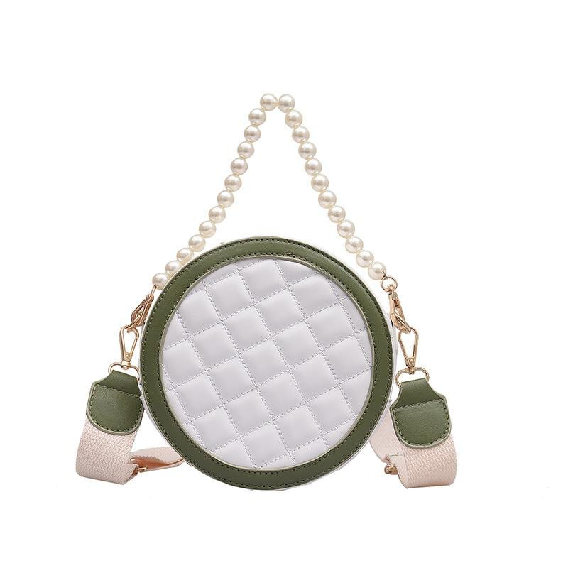 Korean Version of the Wild Mini Bag Pearl Portable Foreign Small Round Bag
