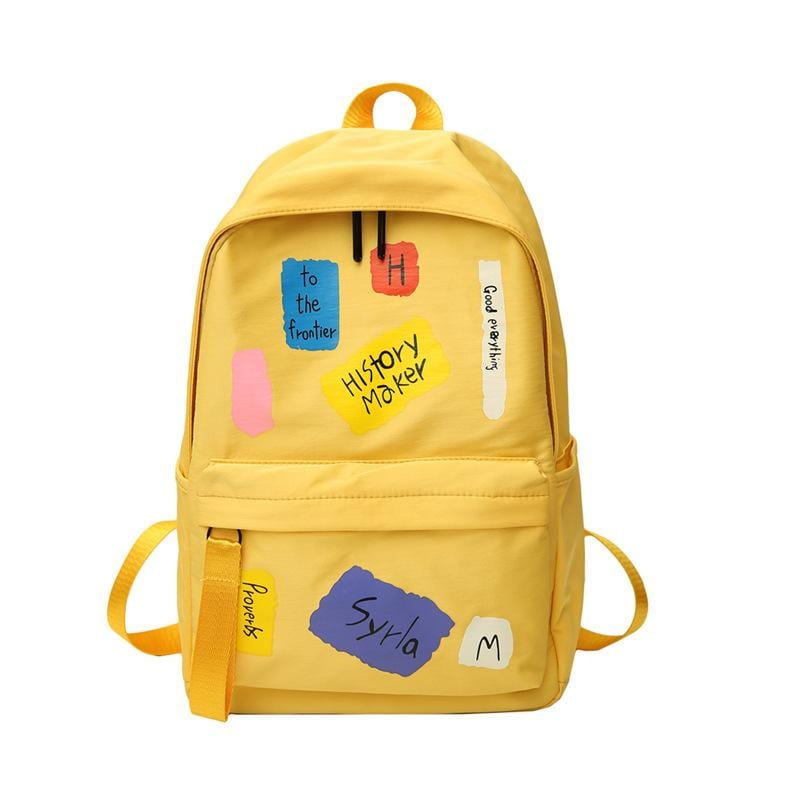 Simple and versatile vintage girl backpack