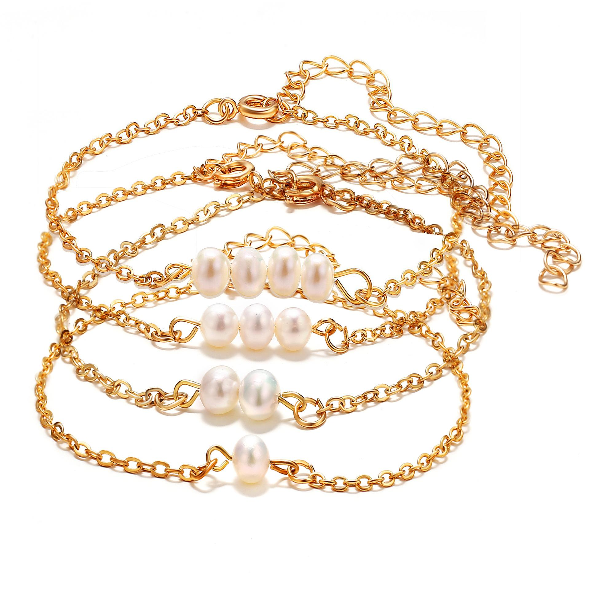 Creative Retro Simple Pearl Single Bead Bracelet