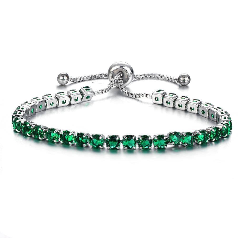 Mosaic Crystal Push-pull Bracelet Gold Full Diamond Single Row