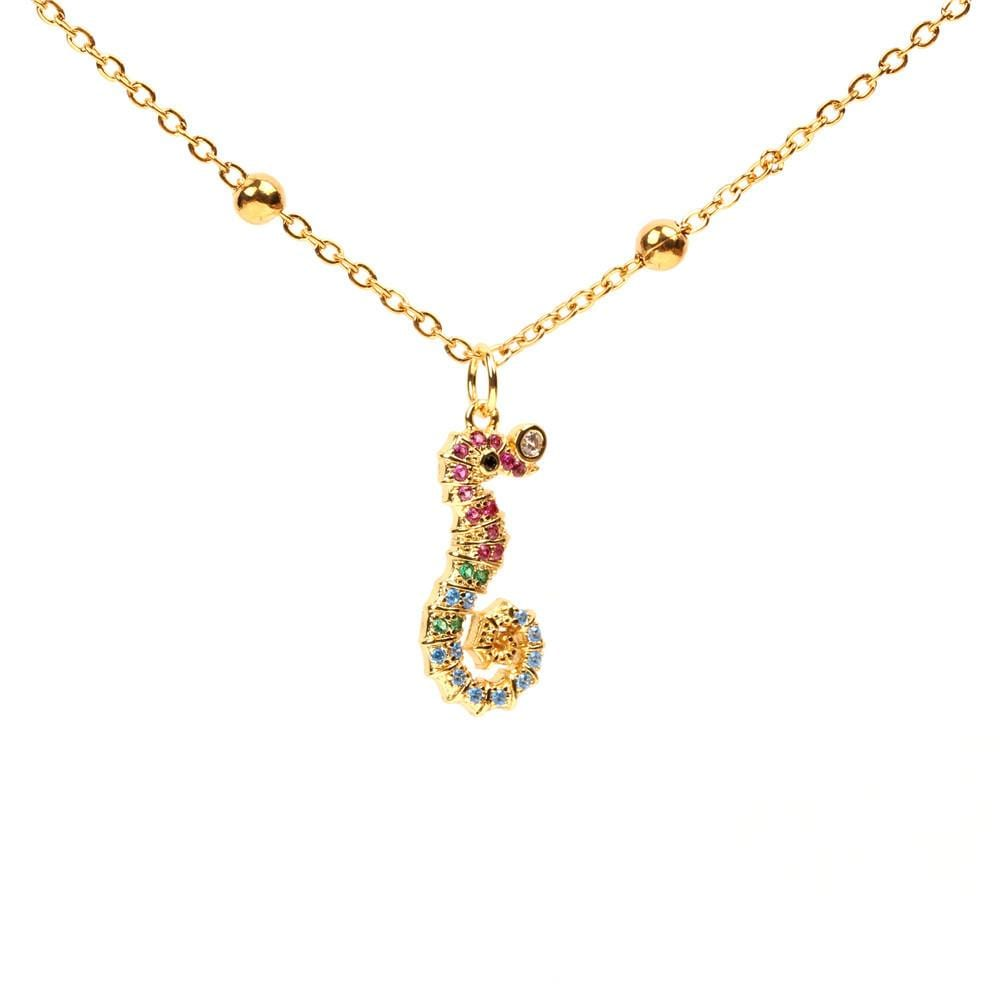 Seahorse Cute Marine Element Micro-set Diamond Necklace