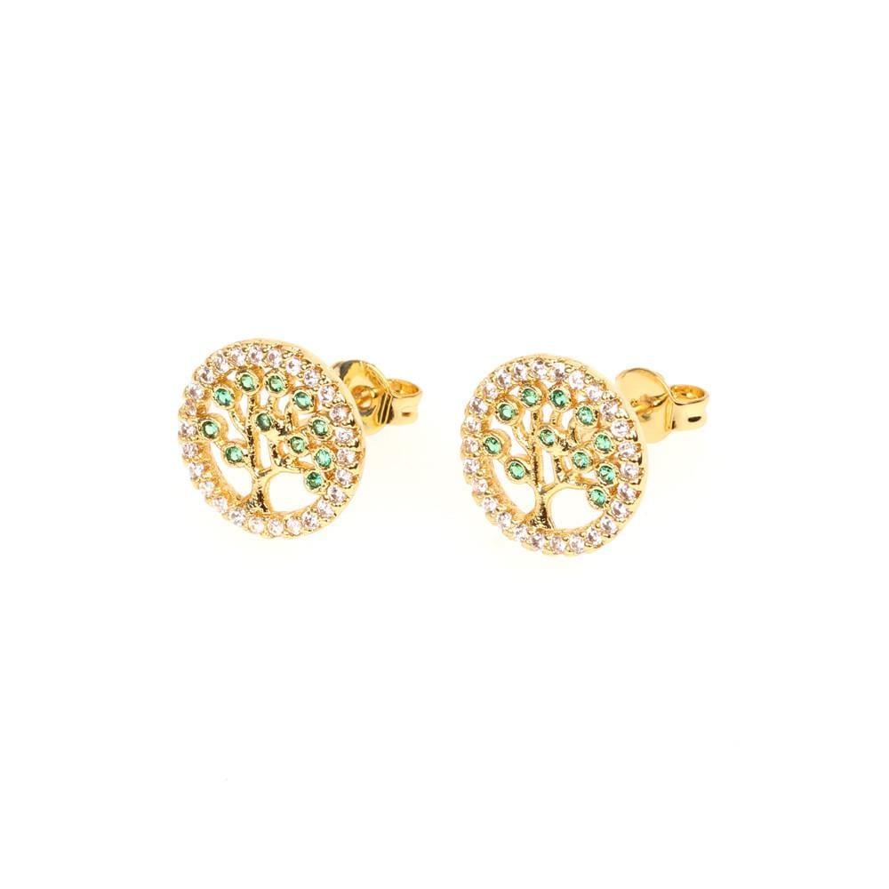 Womens Geometric Diamond Boundary Earrings