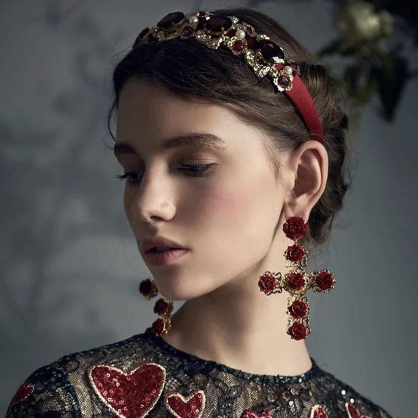 Luxury Court Headband & Earrings
