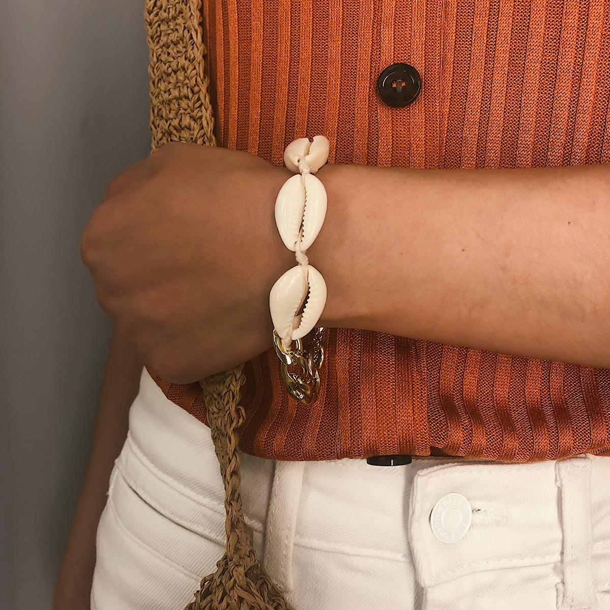 Geometry Hand-woven shells Bracelets & Bangles