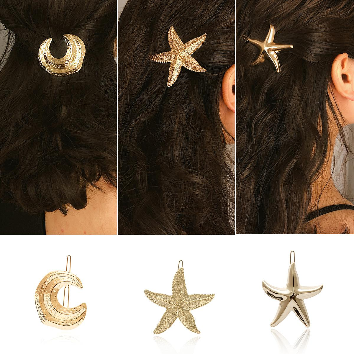Star Moon Plating Alloy Hair Accessories
