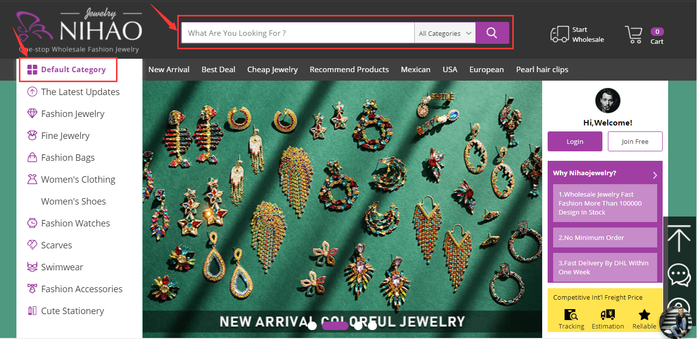 Nihaojewelry's homepage.