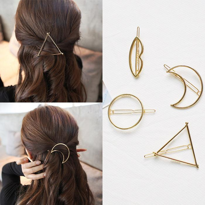 Geometric hairclips.