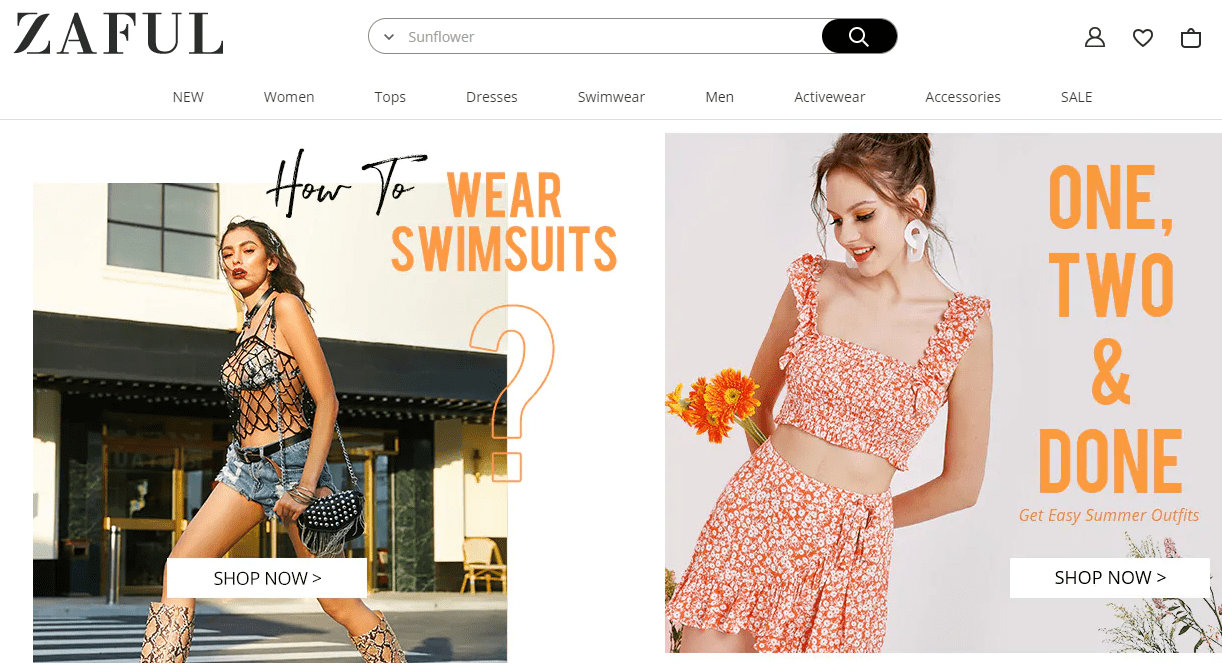 Zaful offers a wide selection of trendy fashion style women's clothing.