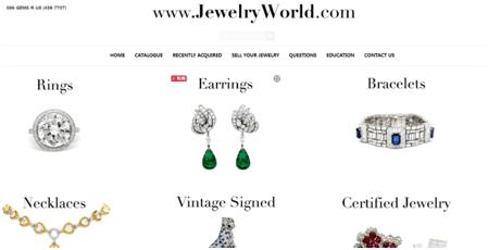 Jewelry World Homepage