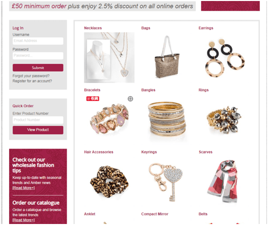 Amber Jewelry Homepage