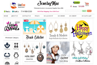 Jewelry Max Homepage