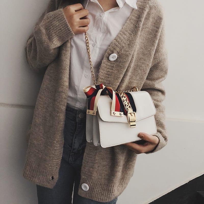 PU Korea Shoulder bag (white) Fashion Bags