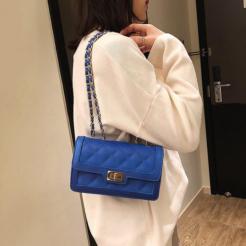 PU Korea Shoulder Bag (blue) Fashion Bags