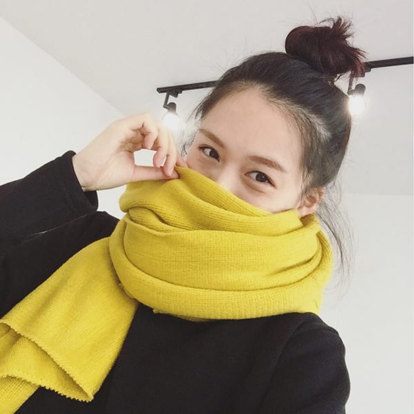Pure Yellow Scarf