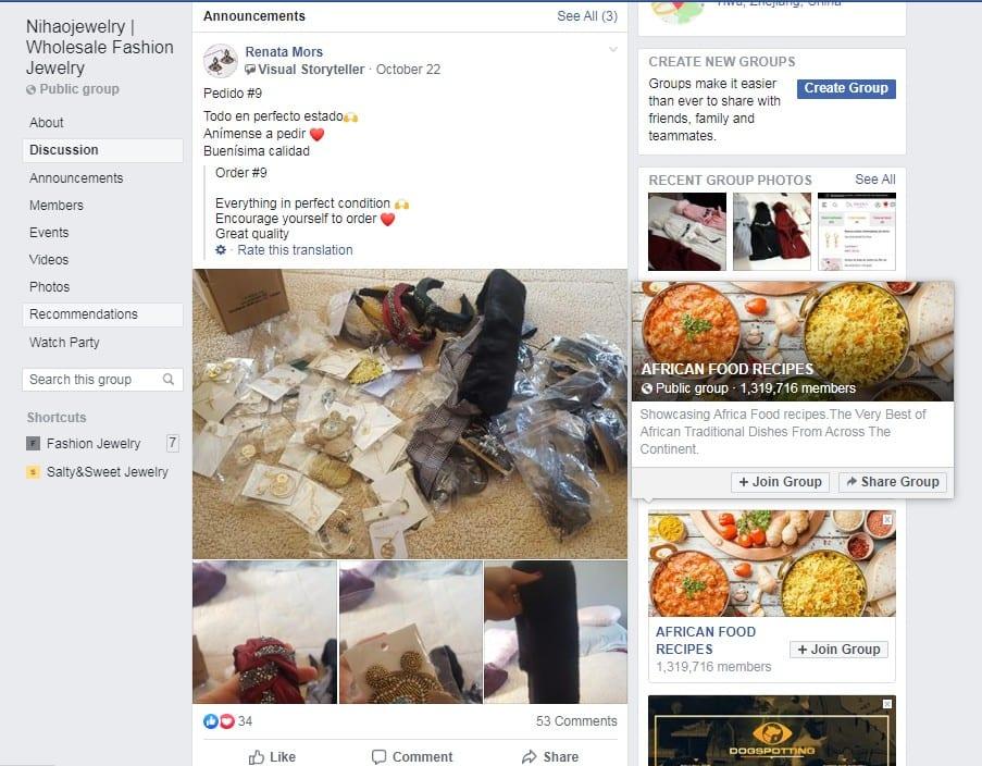nihao facebook group