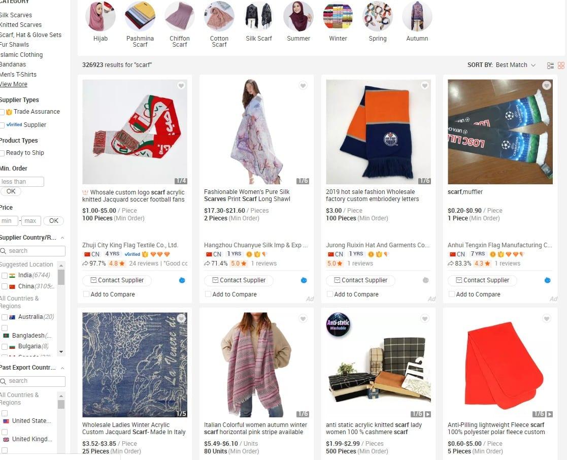 Alibaba homepage