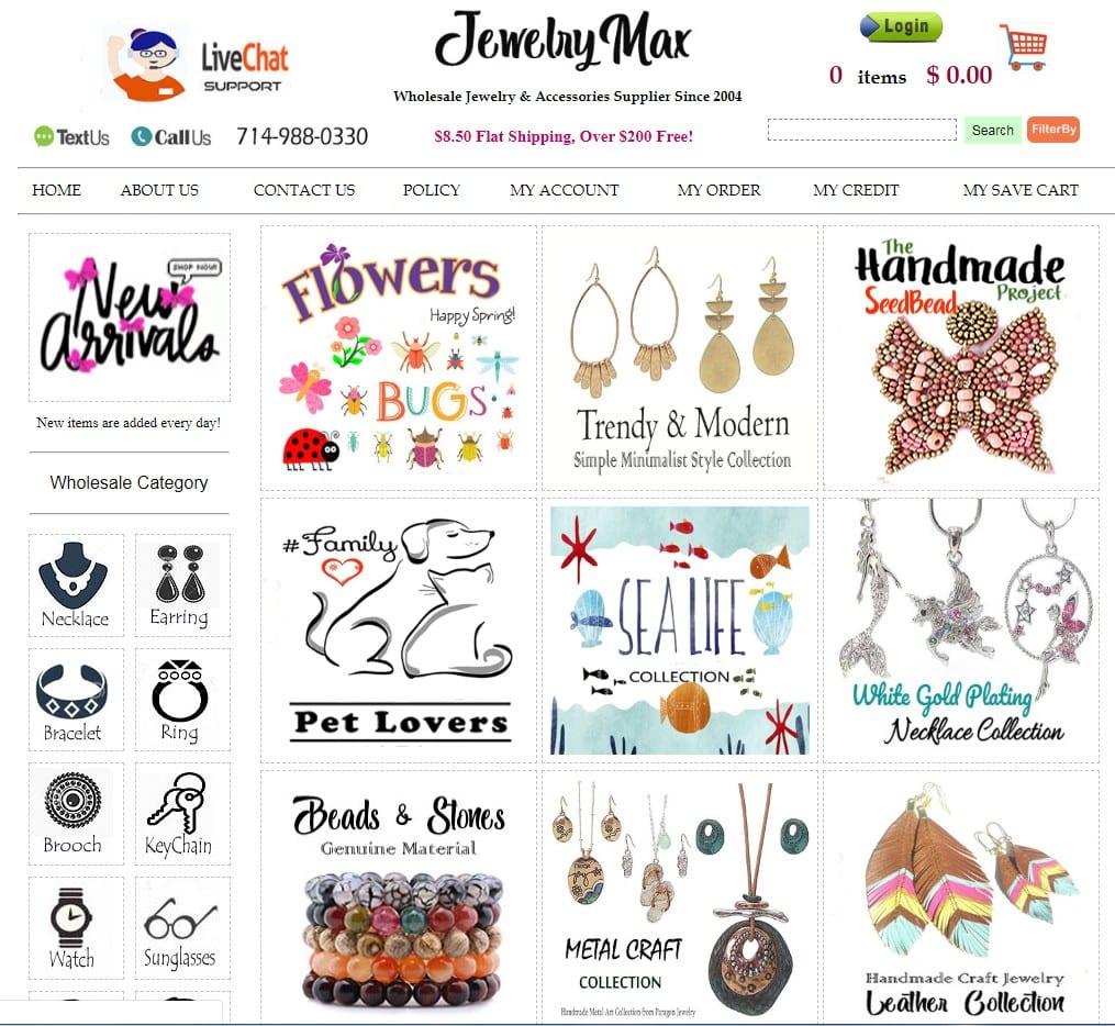 JewelryMax homepage
