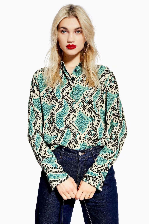 snake print shirt