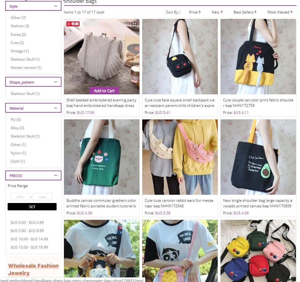 wholesale purses vendor