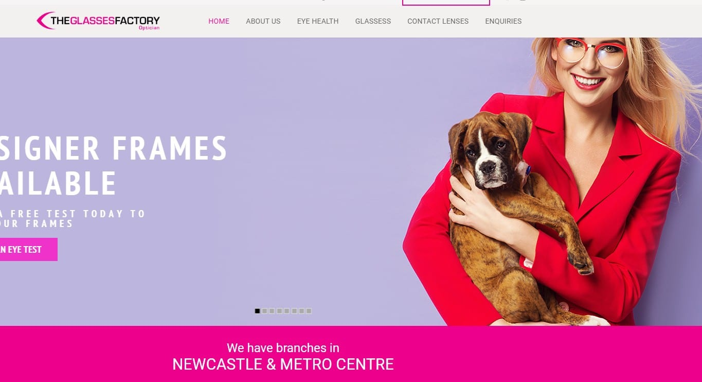 Theglassesfactory homepage