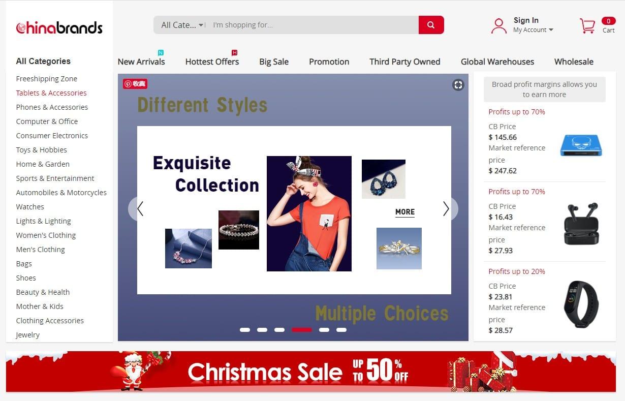 Chinabrands homepage