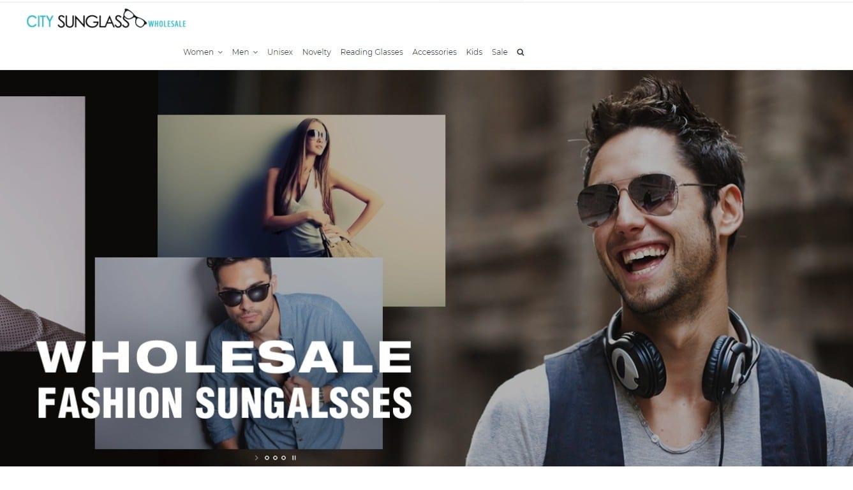 CitySunglass homepage