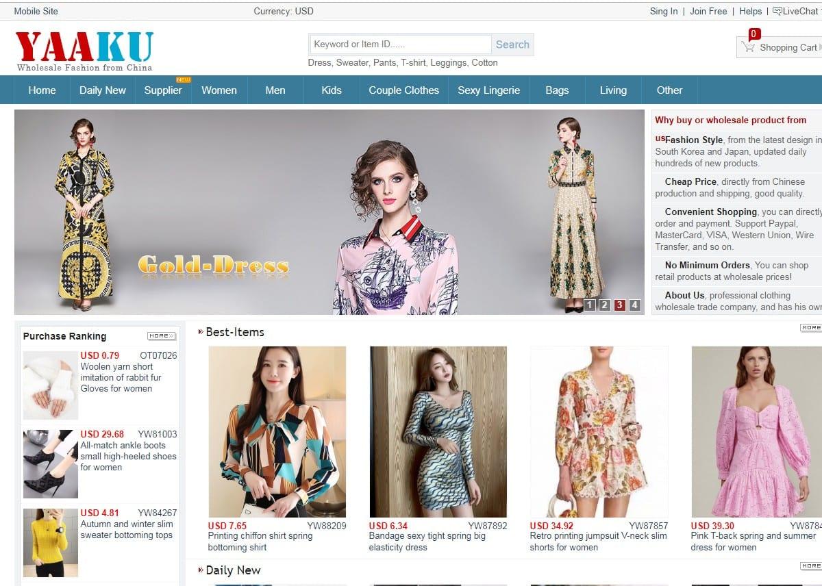 Yaaku.com homepage
