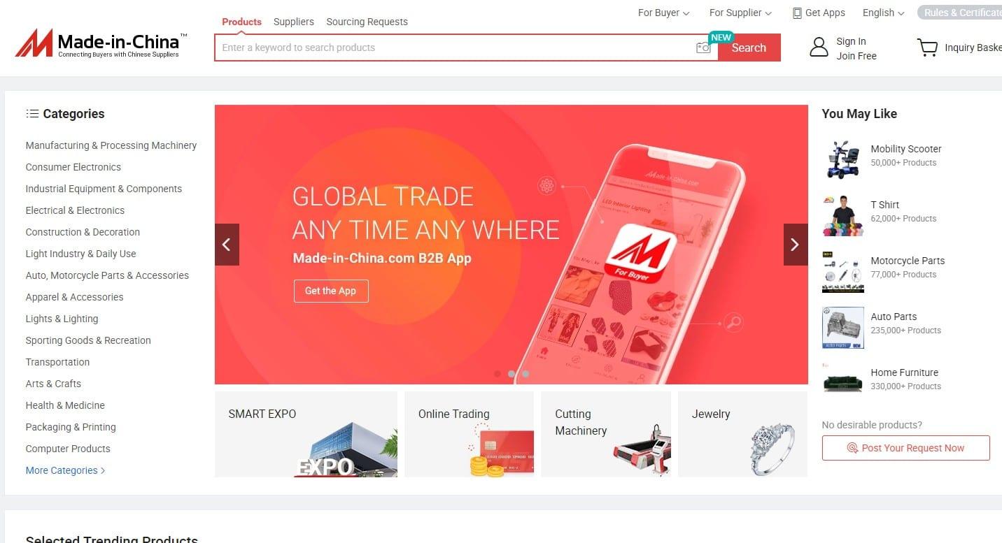 madeinchina homepage
