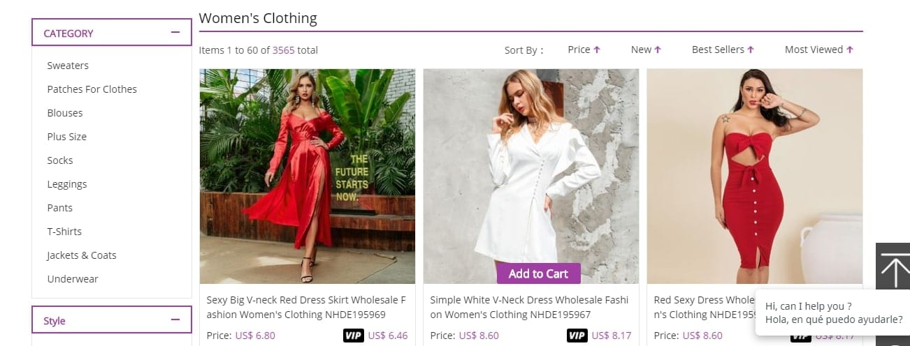 Wholesale Clothing Page