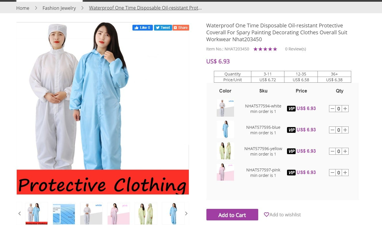 wholesale protective clothing
