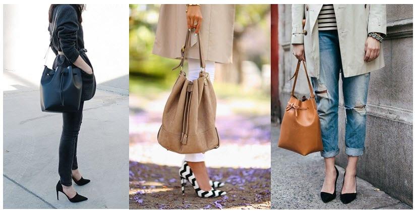 bucket-style bags